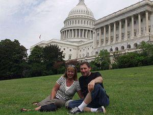 Se svou ženou Martou na návštěvě kongresu USA.