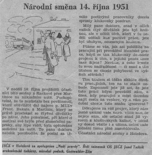 HISTORIE: Národní směna 1951 - Neviditelný pes