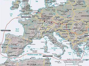 2- Cesta komory kolem Evropy