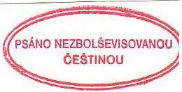 psáno nezbolševizovanou češtinou