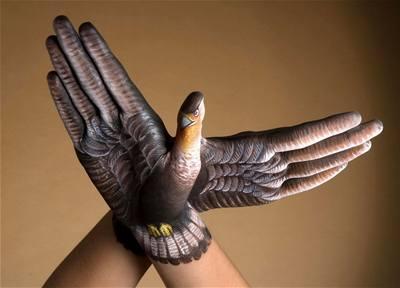 Kliknutím zobrazíte větší formát - handpainting - holub