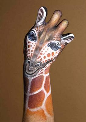 Kliknutím zobrazíte větší formát - handpainting - žirafa